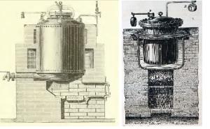 1896 Dammer Handbuch der Chem. Tech. 1896 p.7 smeltketel van Rost